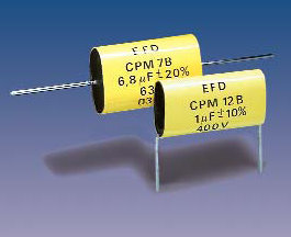 PM7 (axial) Metallized Polyester capacitors