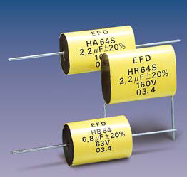 HR64S (radial) Metallized Polyester capacitors