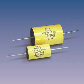 RA*2 (axial) Metallized Polypropylene + Film-Foil Capacitors