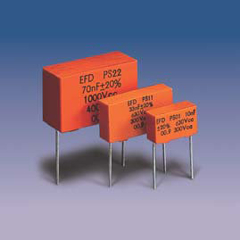 PS*2 (radial) Metallized Polypropylene + Film-Foil Capacitors