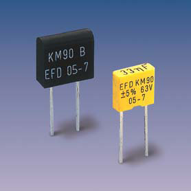 KM90 (radial) Metallized Polycarbonate capacitors