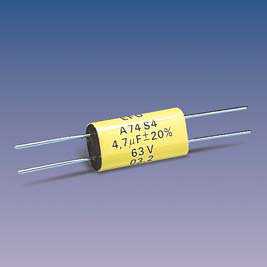 A74S4.(T) (axial) Metallized Polycarbonate capacitors