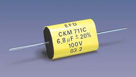 KM711 (T*) (axial) Metallized Polycarbonate capacitors