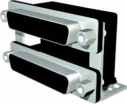 DUL Series Dual Right Angle PCB Mount D-Sub Connectors