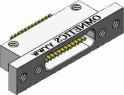 Panel Mount Bi-Lobe® Nano D Connectors